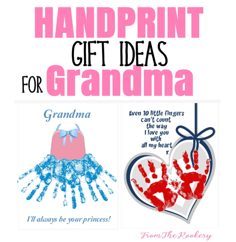 Handprint gift ideas for Grandma