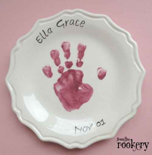 Handprint crafts - plate
