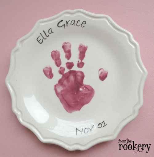 Handprint crafts - plate