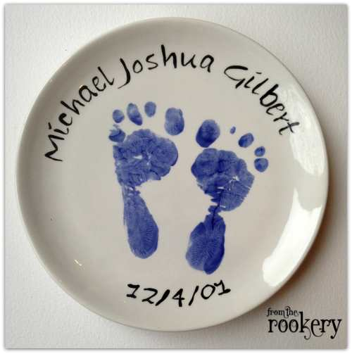 Handprint Crafts - footprint plate