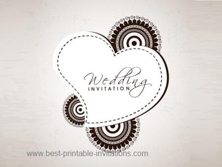 Indian Wedding Invitations - Free printable card