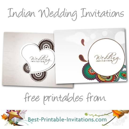Free printable Indian Wedding Inviations