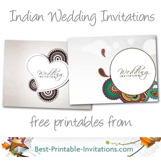 Free printable Indian Wedding Inviations