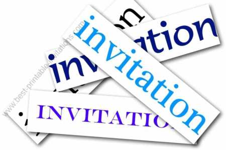 Invitation free printable - free invitation cards