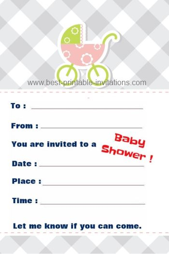 Invitations for Baby Shower - free printable templates