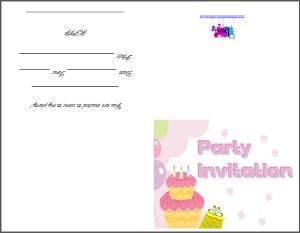 Party Cards - Free printable kids birthday invites