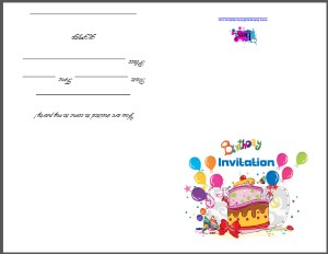 Party Invite Cards - Free Printable