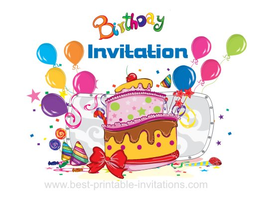 Printable Invitations Party Cards