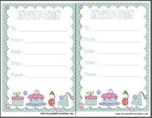 Free printable kid birthday invitation