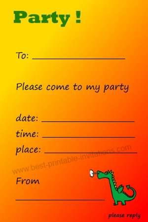 Kids Birthday Invitation - Free Printable Invites