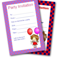 Free Printable Checkerboard Invitations