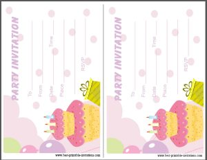 Printable Kids Birthday Party Invites