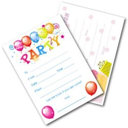 Kids Birthday Party Invite Cards