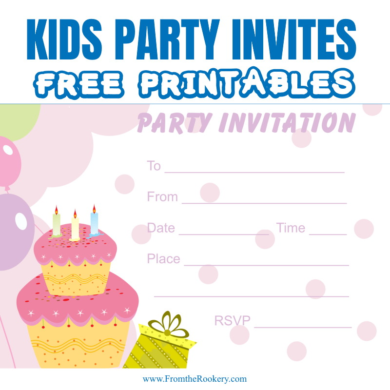 Kids Birthday Party Invites - free printable invitations