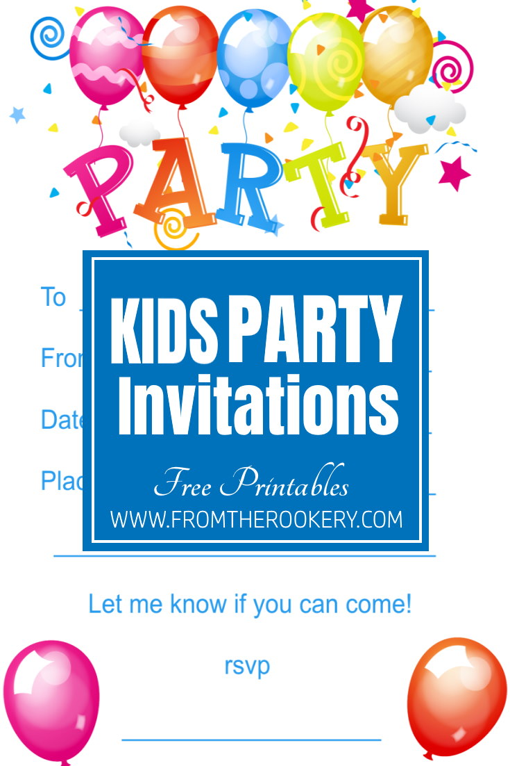 Free Kind Birthday Party Invites