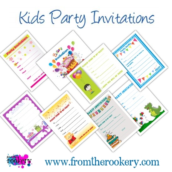 Kids Printable Party Invitations