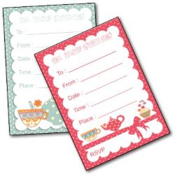 Printable Kids Tea Party Invitation