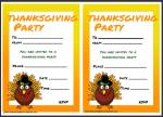 Kids Thanksgiving Party Invites