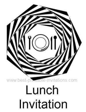 Lunch Invite - Free printable lunch invitation
