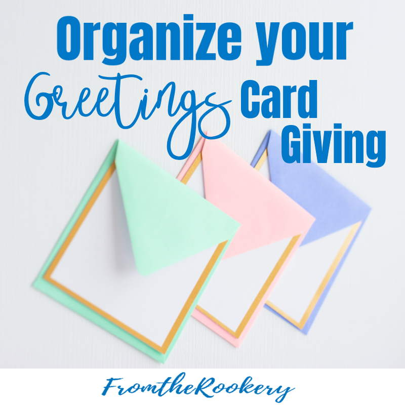 Organize Greetings Card Giving