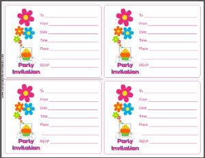 Printable Party Invitation Card