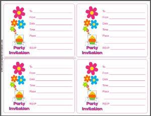 Printable Party Invitation Card