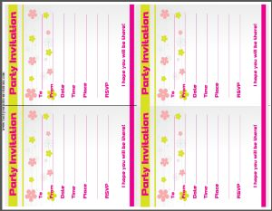 Party Invitation Card - Kids Birthday Invites