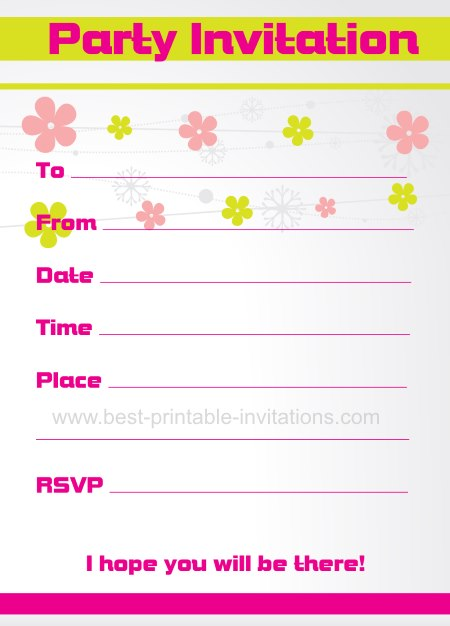 Free Party Invitation Card