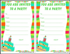 Free Party Invitations for Kids