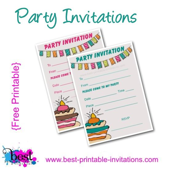 Free Kids Birthday Party Invitations Printable