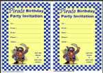 Pirate Birthday Party Invitation thumbnail