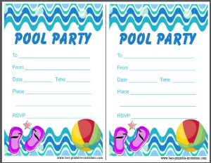 picture about Pool Party Printable named Printable Pool Get together Invitation