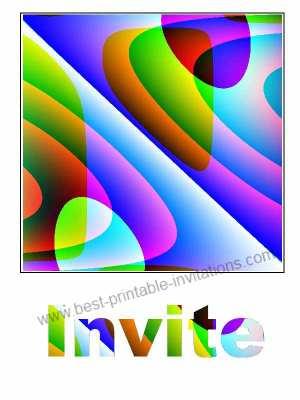 Print Free Invitations - Retro printable invitation card