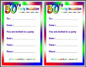 Free Printable Invitation For Fiftieth Birthday Parties