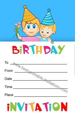 Printable birthday Invitations for kids - free invites