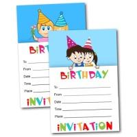 Free boy and girl printable invitations