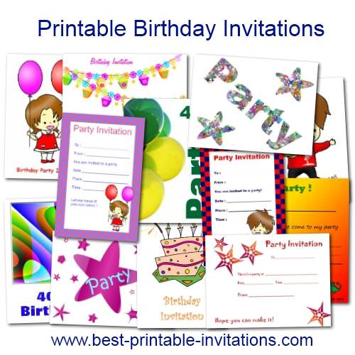 Printable birthday invitations