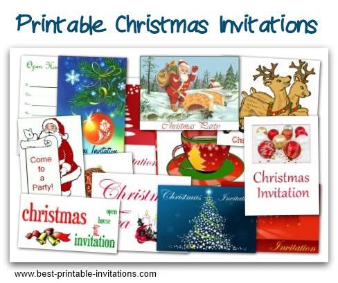 free christmas party invites