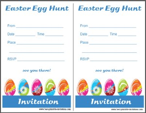 Free Printable Easter Egg Hunt Invitations