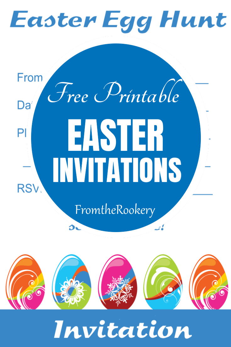 Printable Easter Egg Hunt Party Invitations
