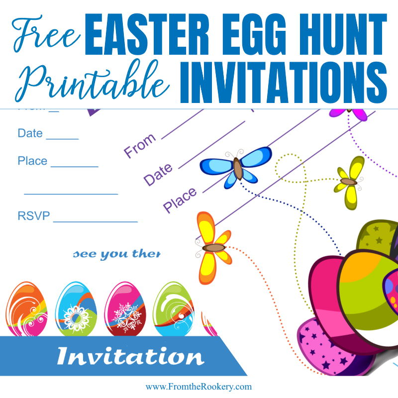 Easter Egg Hunt Invitations - Free Printable Party Invites