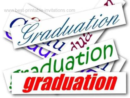 Printable Graduation Invitations - free downloadable invite