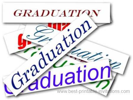 Printable Graduation party invitations - Free graduation invites