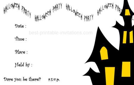 picture regarding Halloween Invites Printable identified as Printable Halloween Invites