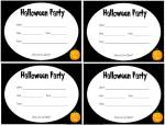 Black and white printable Halloween invites
