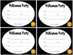 Black and white printable Halloween invites