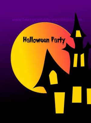 printable halloween party invitations, party invitations