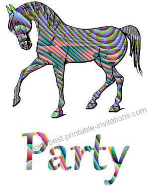 Printable Horse Birthday Invitations