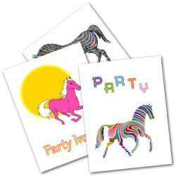 Horse Party Invite Cards - Free Printable