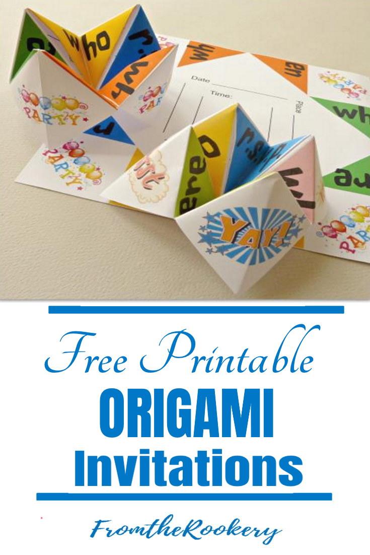 Free Printable Origami Invitations